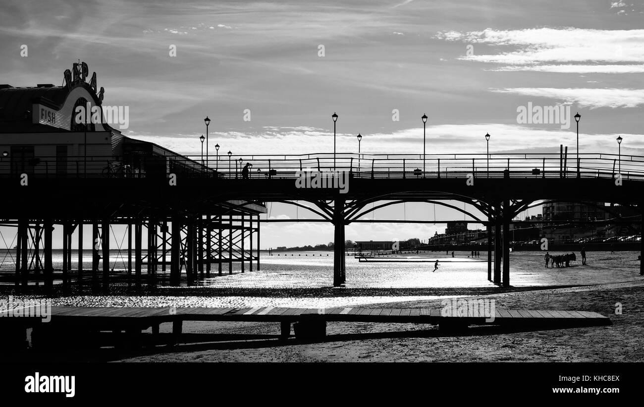 Pier at Cleethorpes, England, UK - Stock Image