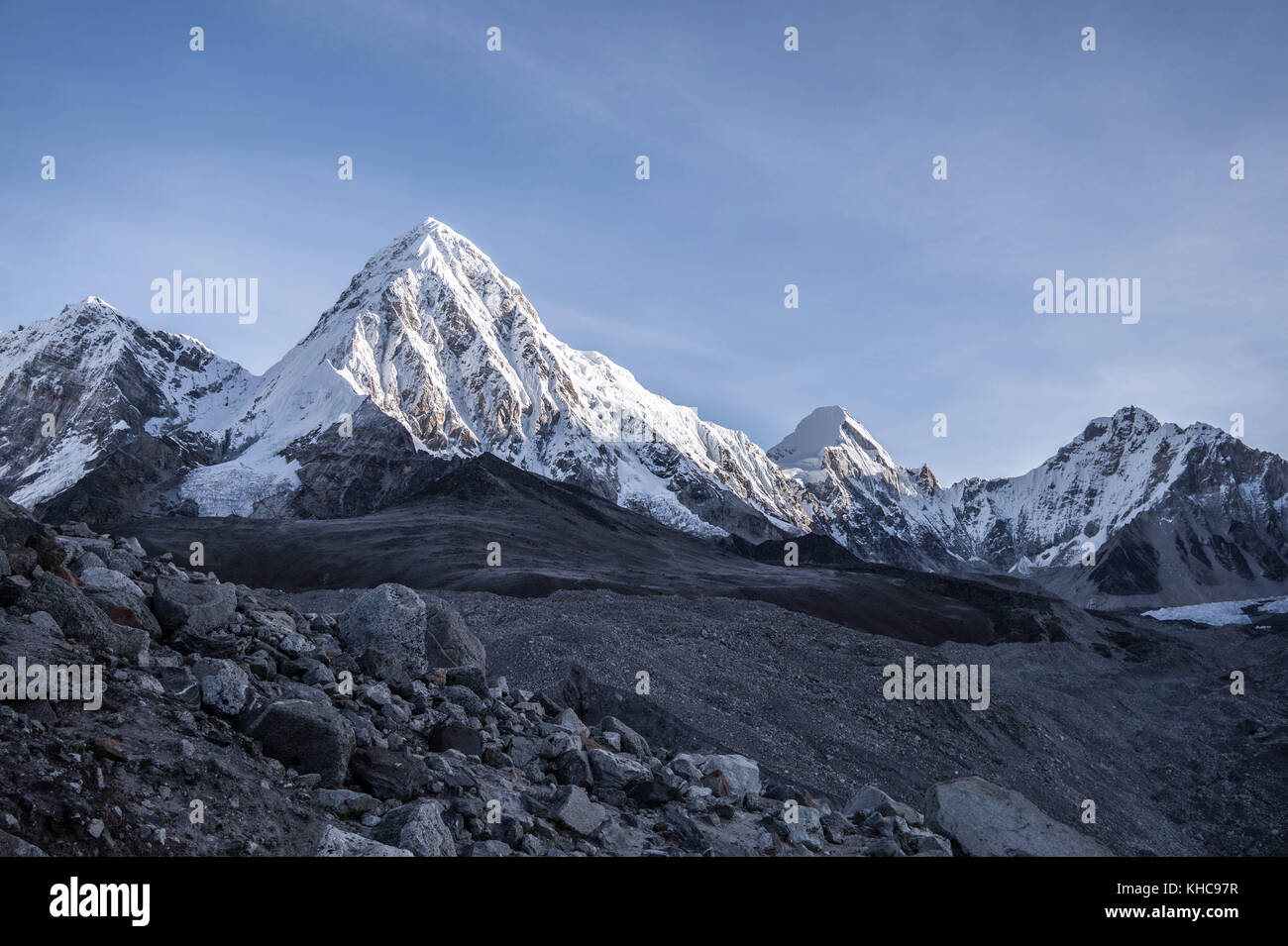 On the way to Everest Base Camp - Stock Image