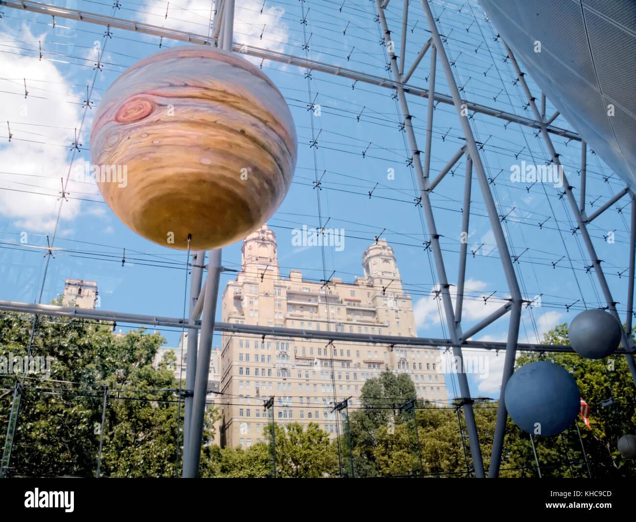 Model of Jupiter, Hayden Planetarium New York - Stock Image