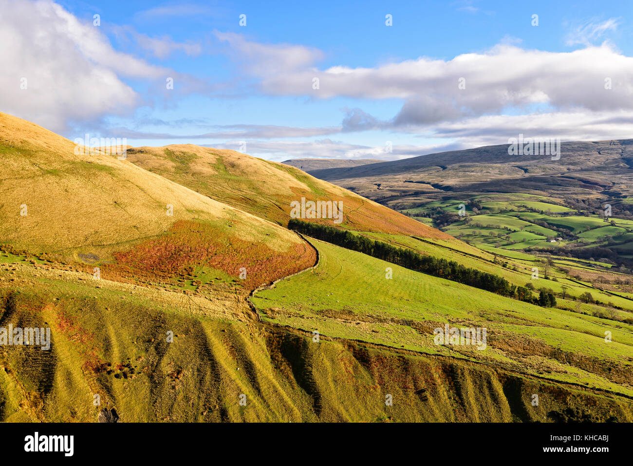 The Howgill hills around Sedbergh in the Yorkshire Dales national park Stock Photo
