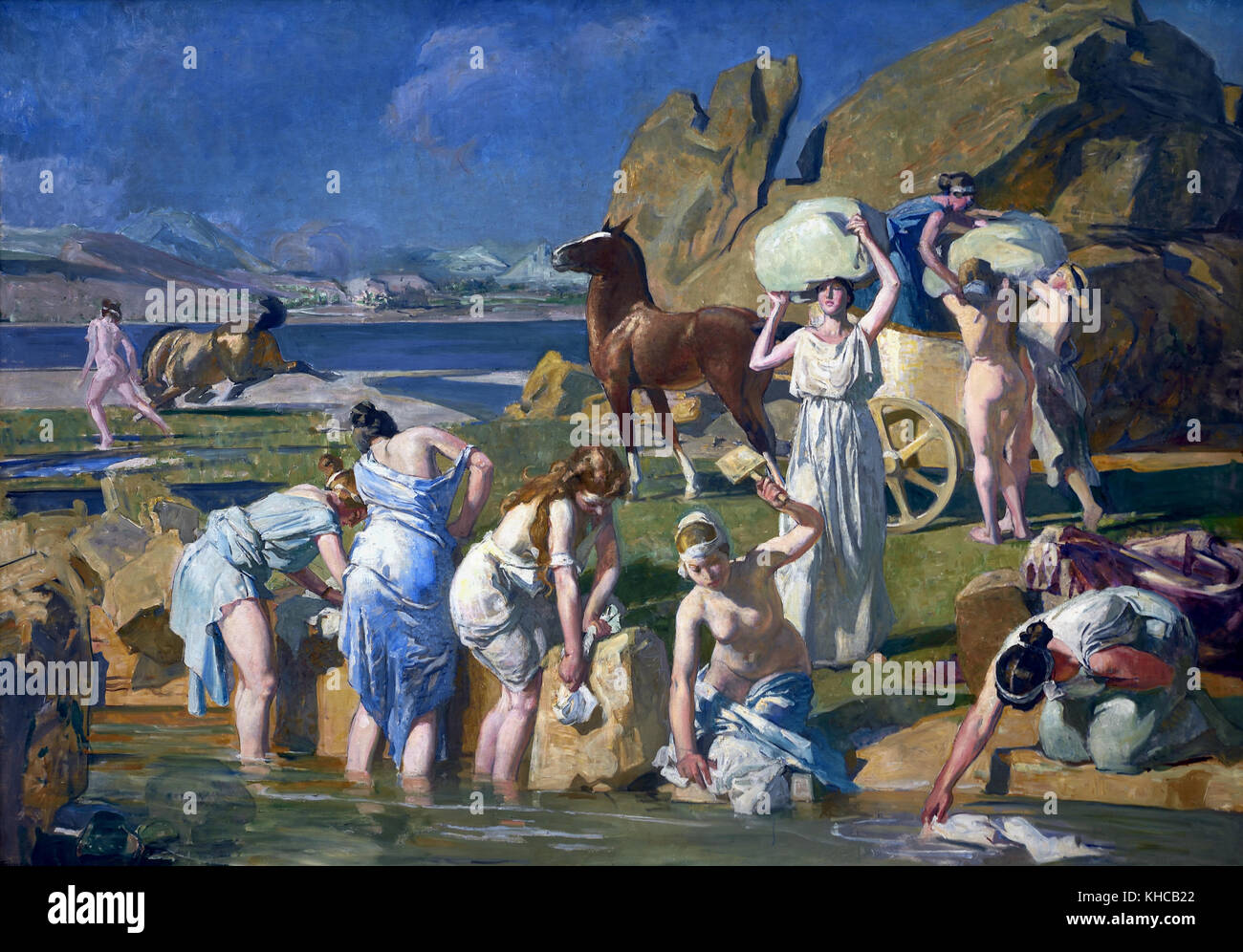 Lucien SIMON 1861 - 1945 French France ( Nausicaa ( is a character in Homer's Odyssey. She is the daughter of - Stock Image