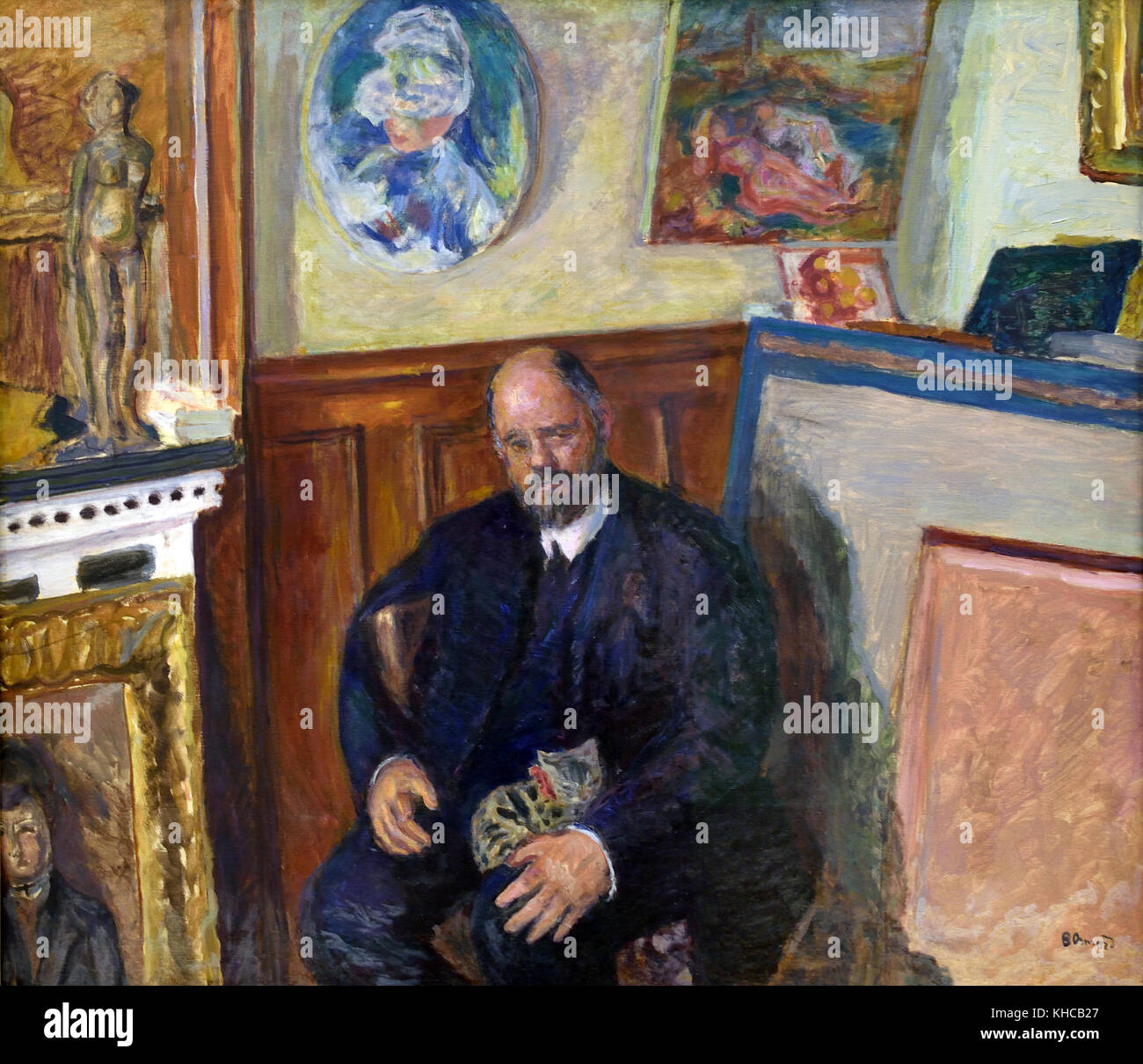 Portrait of Ambroise Vollard at Chat 1924 Pierre Bonnard 1867 - 1947 French, France. - Stock Image