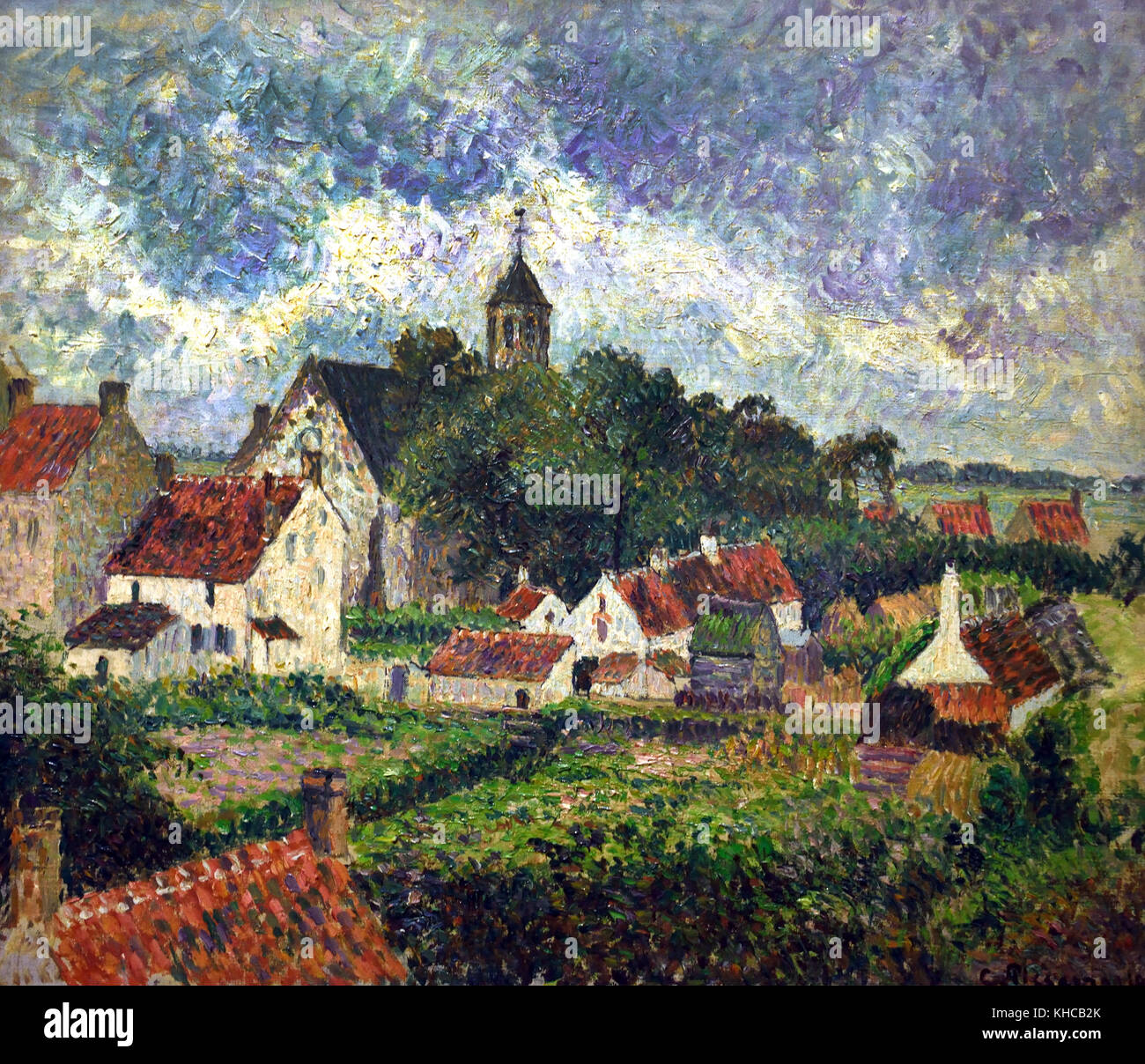 Le Village de Knocke  1894 Camille Pissarro 1830 - 1905 France French - Stock Image