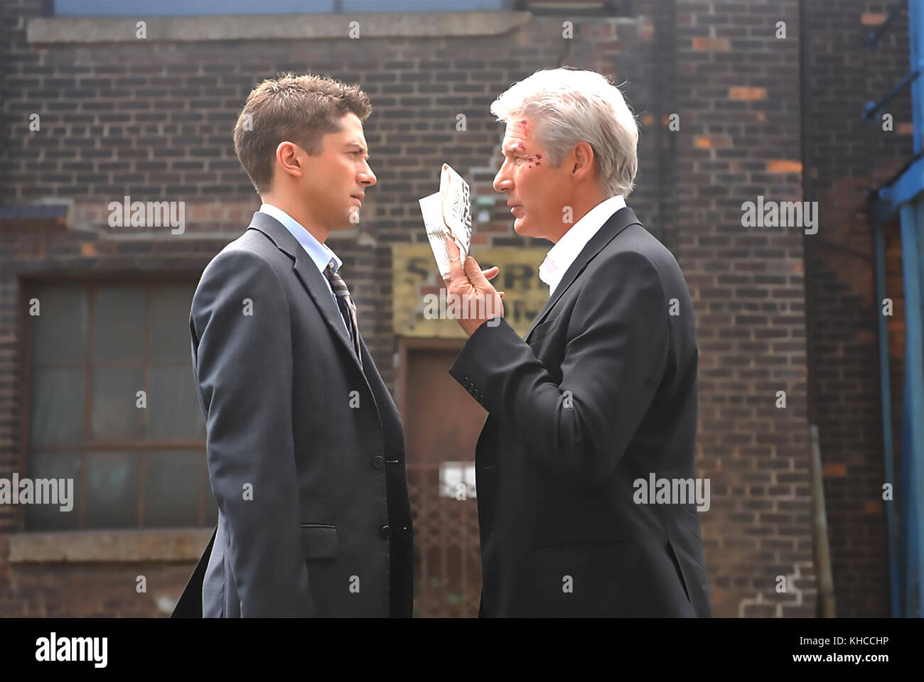 THE DOUBLE 2011 Hyde Park Entertainment  film with Richard Geere at right and Topher Grace - Stock Image