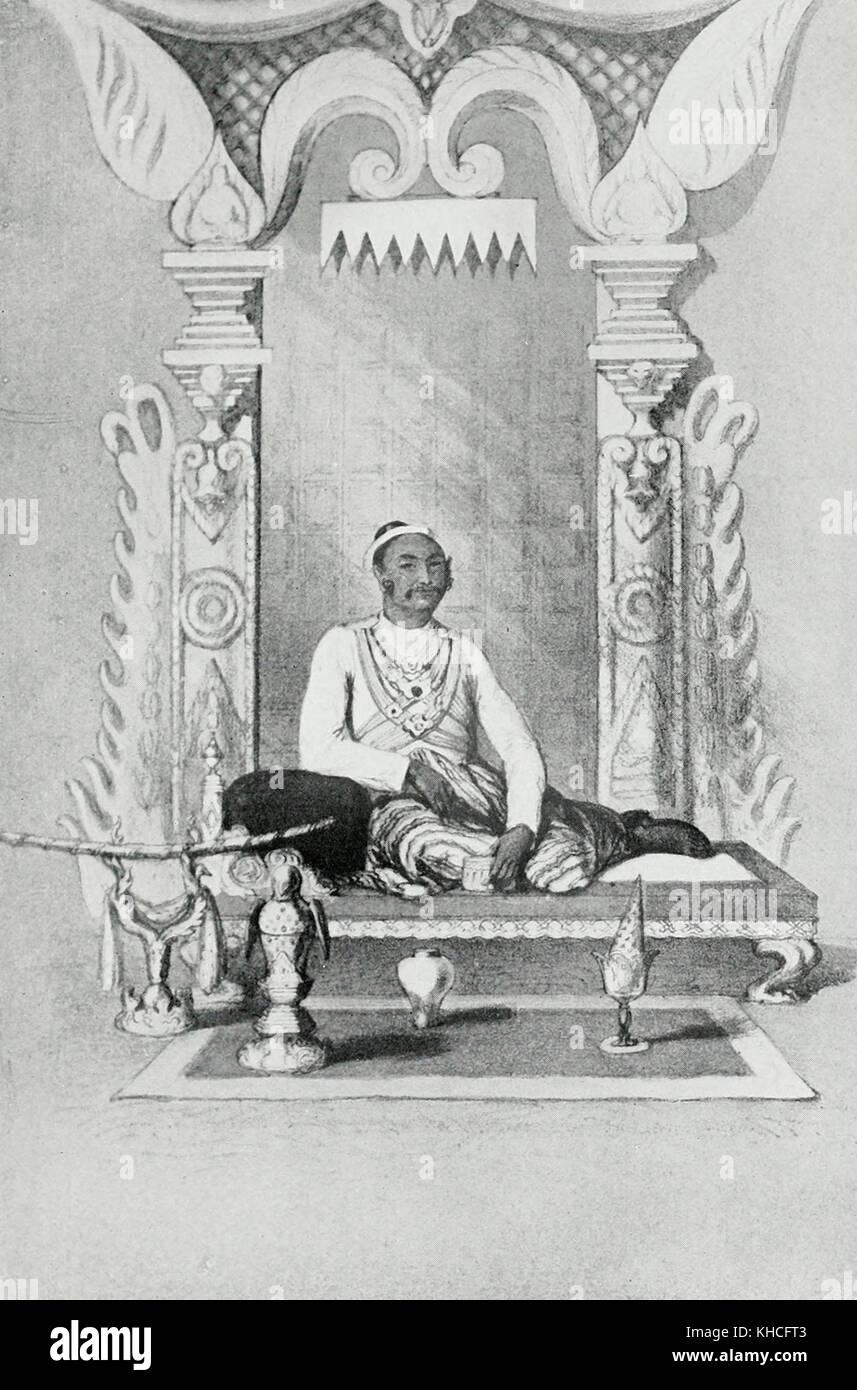 King Mindon Min, Burma, circa 1870 - Stock Image