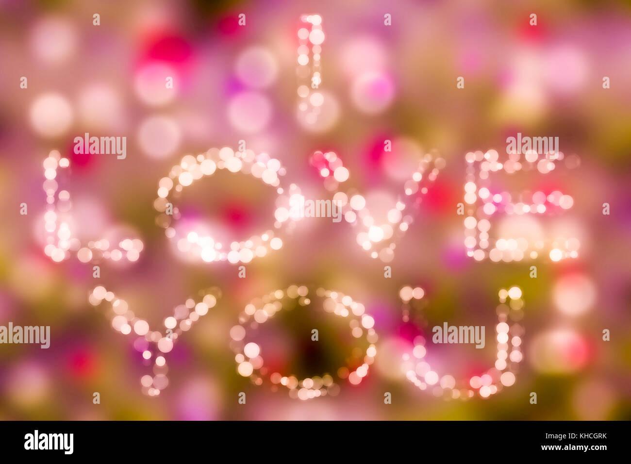 Love theme concept bokeh background i love you Valentine's