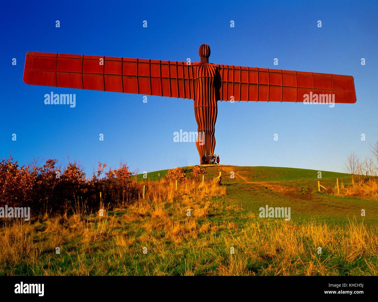 Angel of the North statue, Gateshead, Tyne and Wear, England, UK - Stock Image