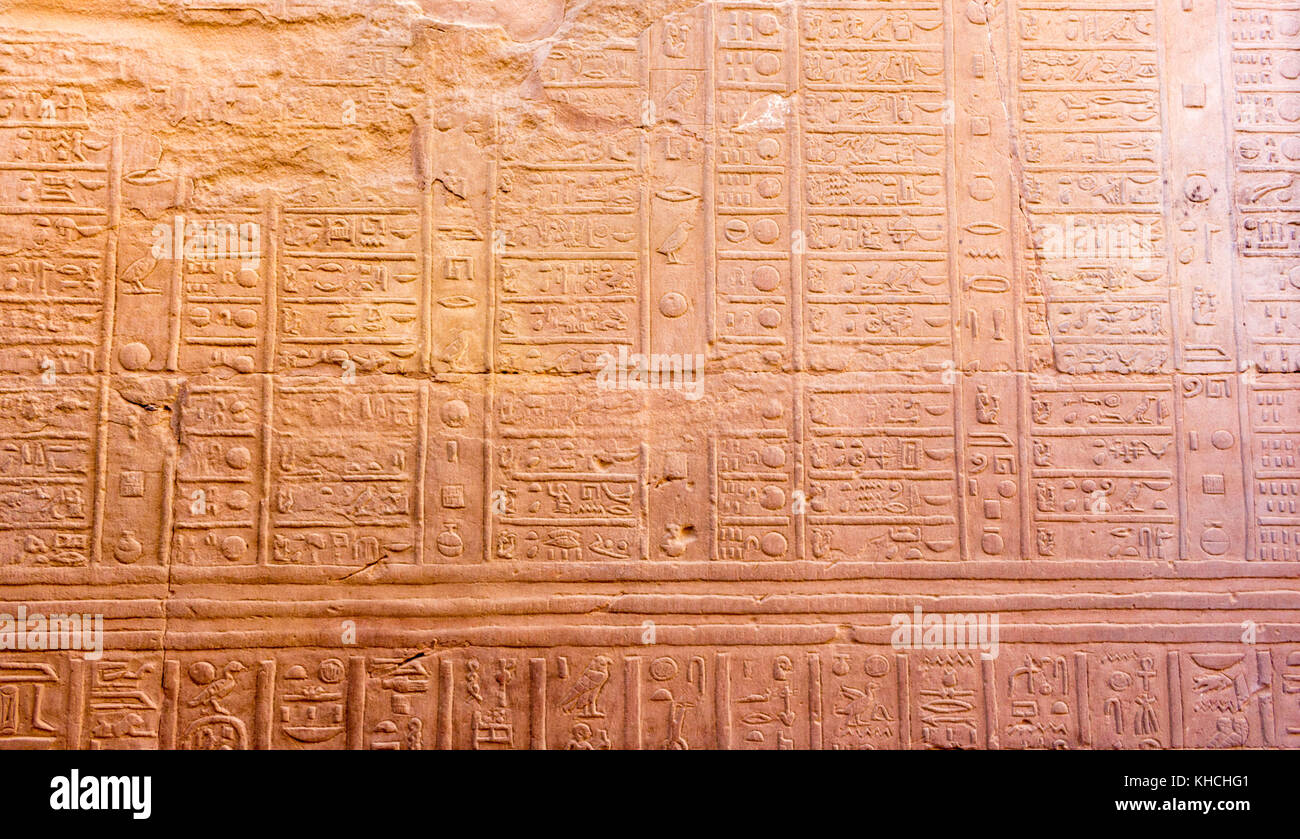 Hieroglyphen - Stock Image