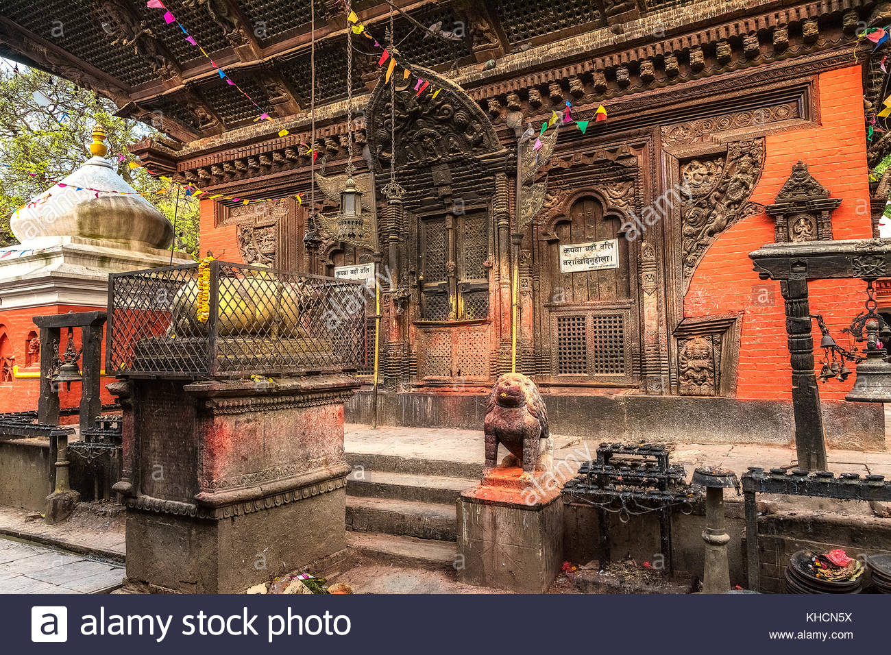 front of old temple in katmandú. nepal - Stock Image