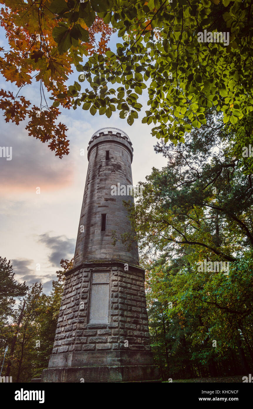 The victory Tower in Bayreuth, bavaria, Germany. - Stock Image