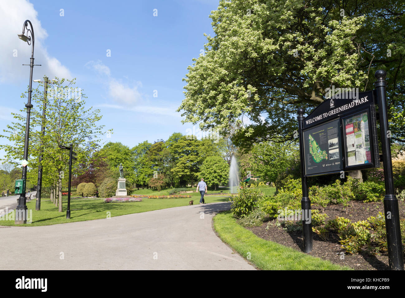 Greenhead park, Huddersfield. - Stock Image