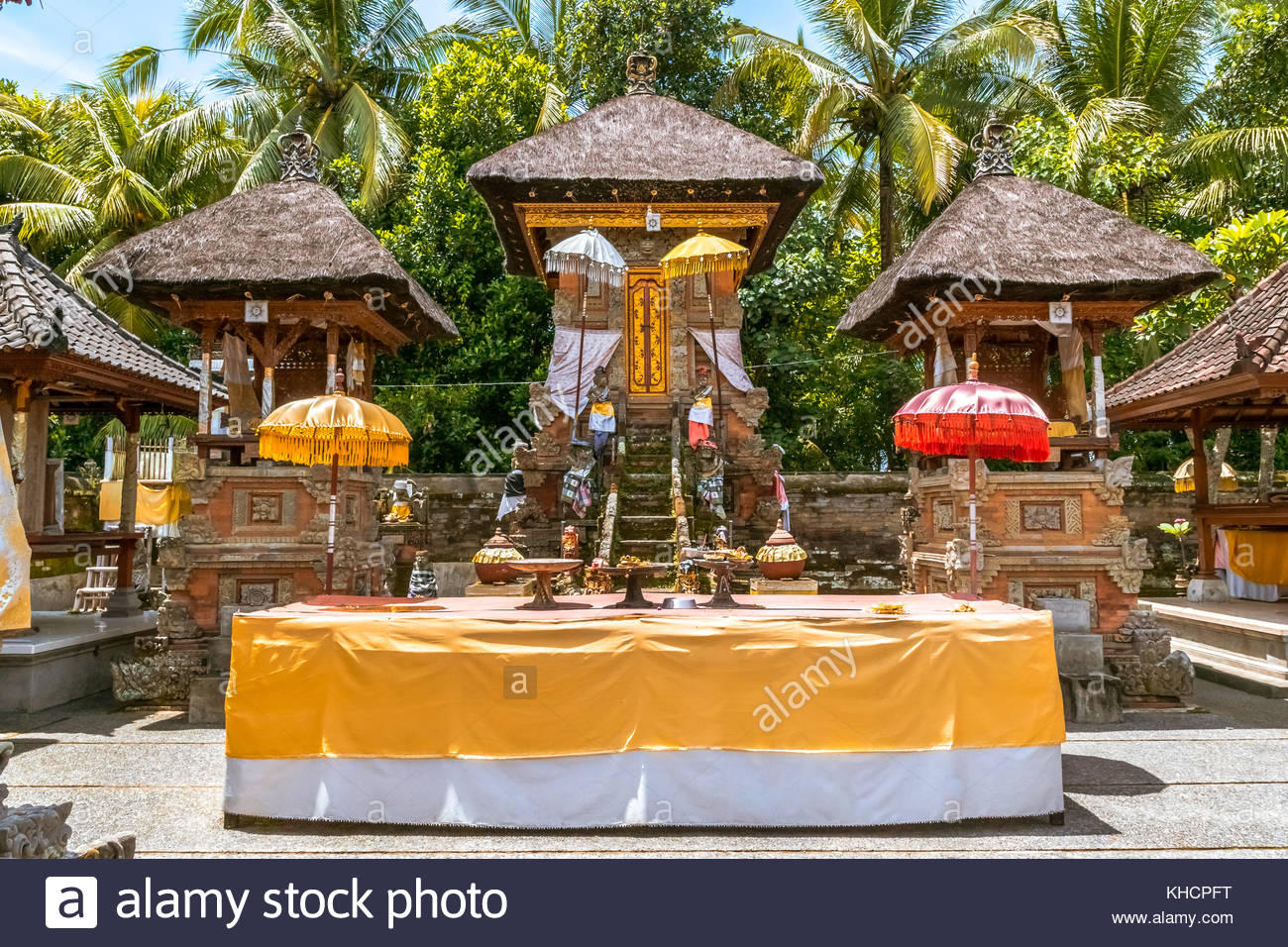 balinese temple traditional. ceremony hinduist. bali. - Stock Image
