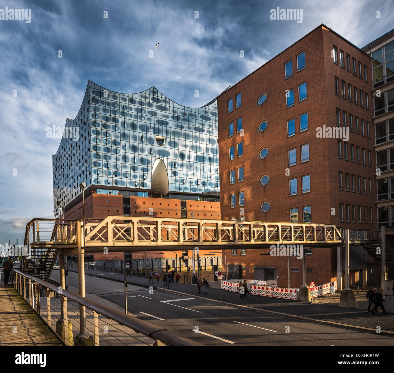 The Elbe Philharmonic Hall or Elbphilharmonie, concert hall in the Hafen City quarter of Hamburg, Germany - Stock Image