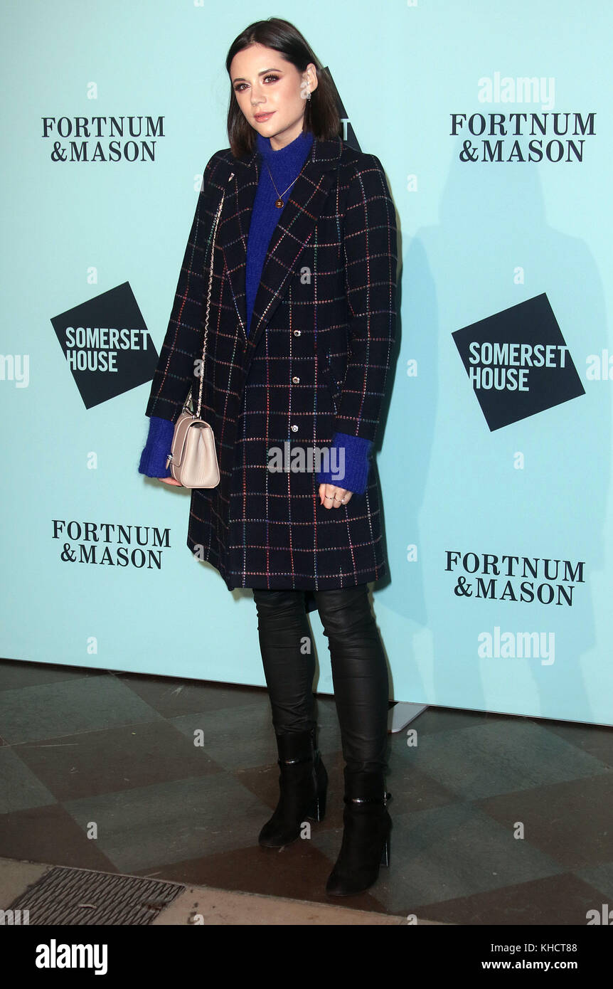 Nov 14, 2017 - Lilah Parsons attending 'Skate At Somerset House With Fortnum & Mason VIP Launch, Somerset - Stock Image