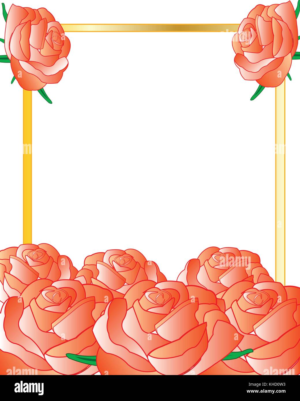 Roses Background Stock Vector Images Alamy Rose Flower Line Diagram Simple Drawing Of Bud Frame Decorated A The