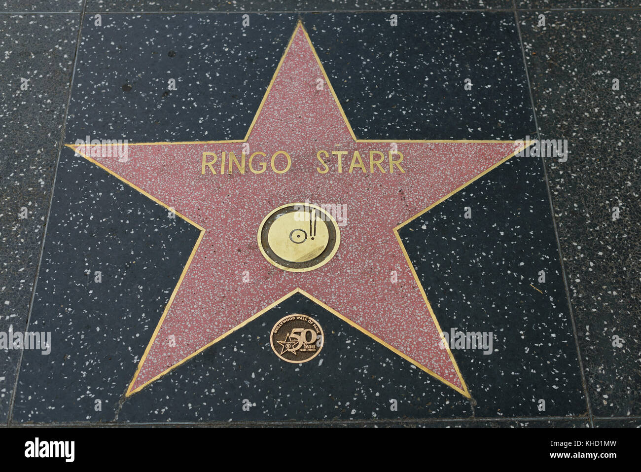 HOLLYWOOD, CA - DECEMBER 06: Ringo Starr star on the Hollywood Walk of Fame in Hollywood, California on Dec. 6, - Stock Image
