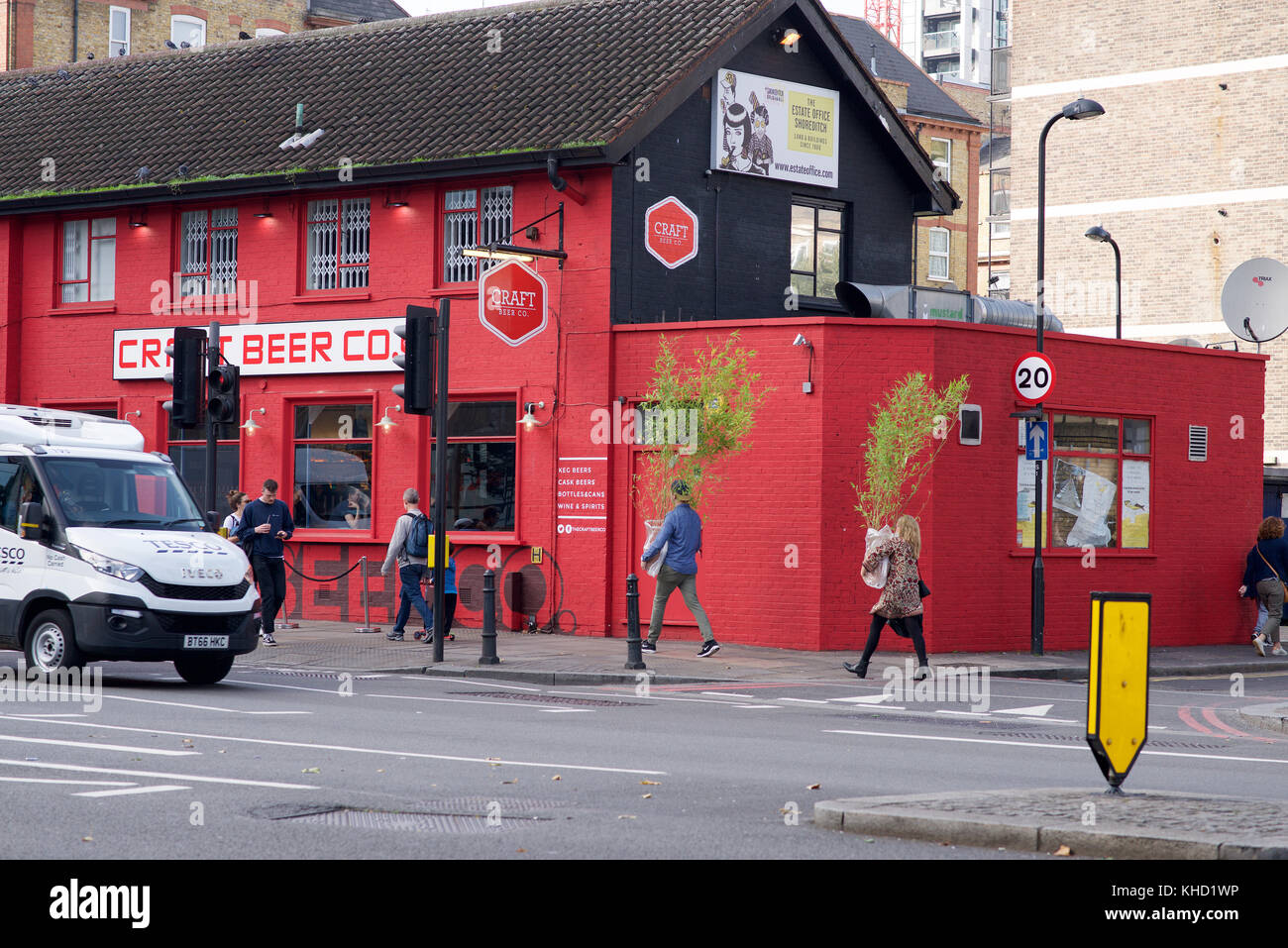Craft Beer Company on Old Street, Shoreditch, London Stock Photo