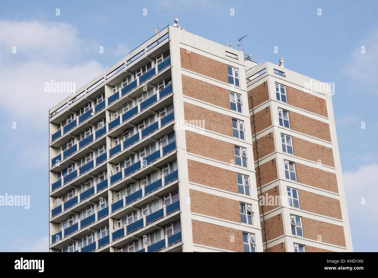 Hi-rise apartments in Shoreditch, London - Stock Image