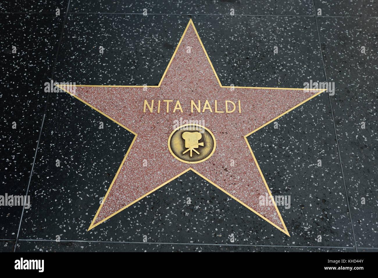HOLLYWOOD, CA - DECEMBER 06: Nita Naldi star on the Hollywood Walk of Fame in Hollywood, California on Dec. 6, 2016. - Stock Image