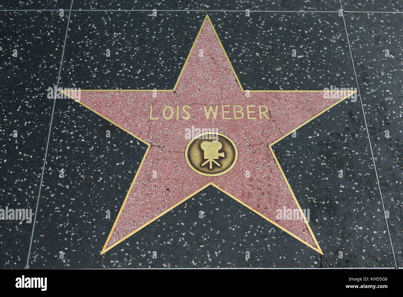 HOLLYWOOD, CA - DECEMBER 06: Lois Weber star on the Hollywood Walk of Fame in Hollywood, California on Dec. 6, 2016. - Stock Image
