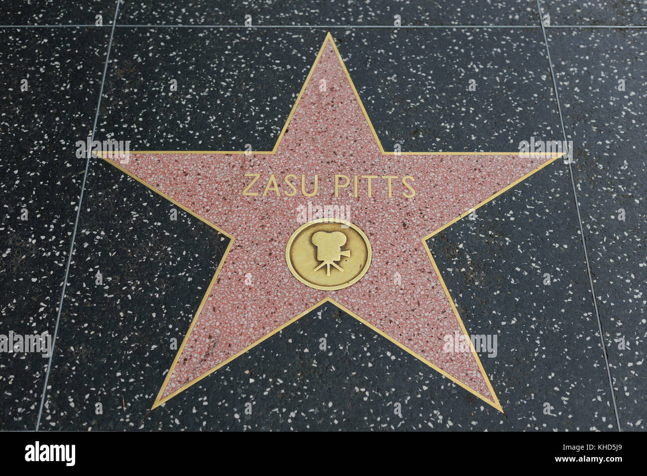 HOLLYWOOD, CA - DECEMBER 06: Zasu Pitts star on the Hollywood Walk of Fame in Hollywood, California on Dec. 6, 2016. - Stock Image