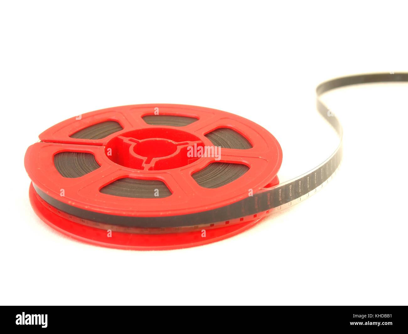 8 mm movie film reel / isolated white Stock Photo: 165636773