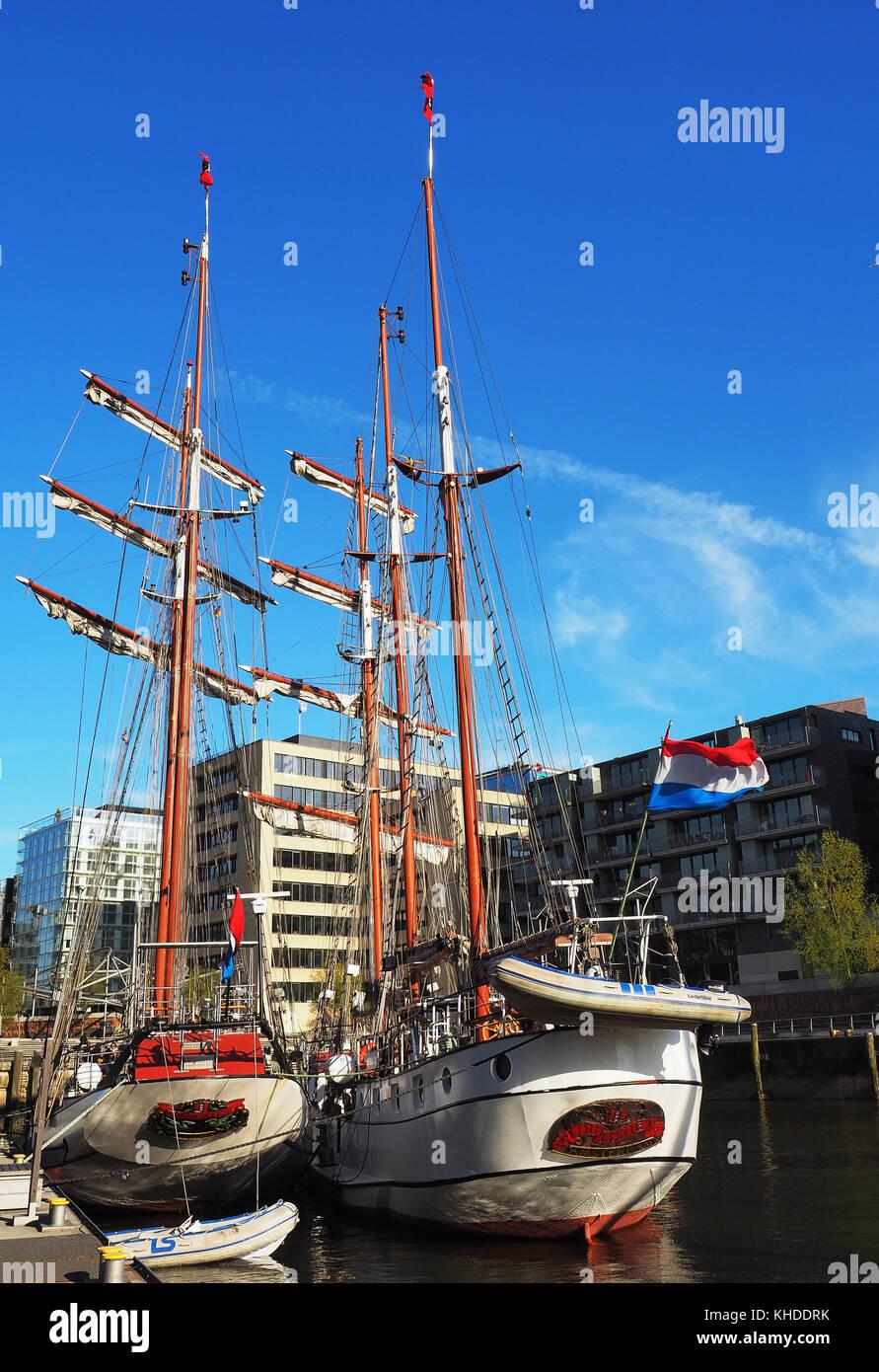 Germany , Hamburg , hafencity , - Stock Image