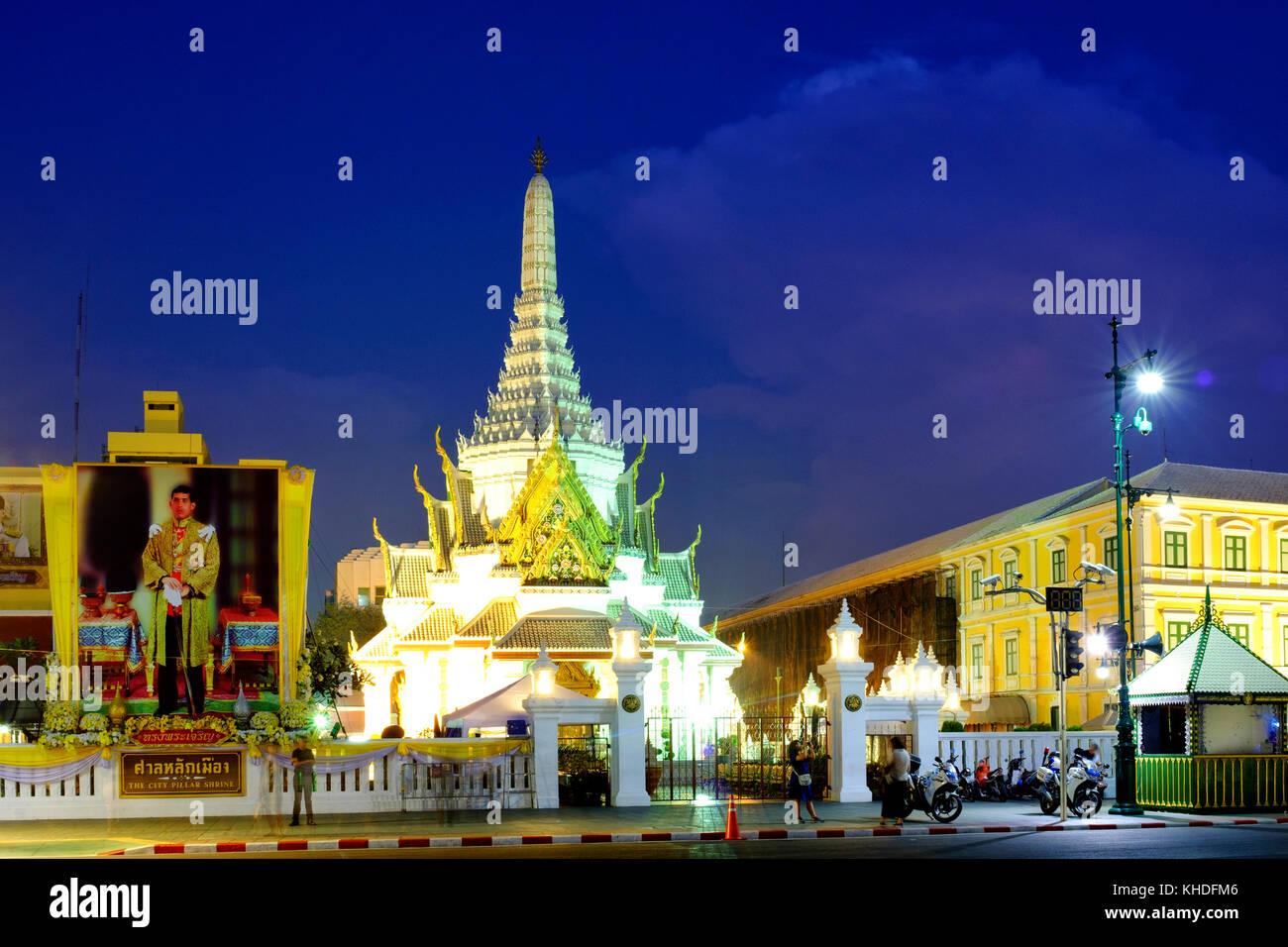 City pillar shrine, Bangkok, Thailand Stock Photo