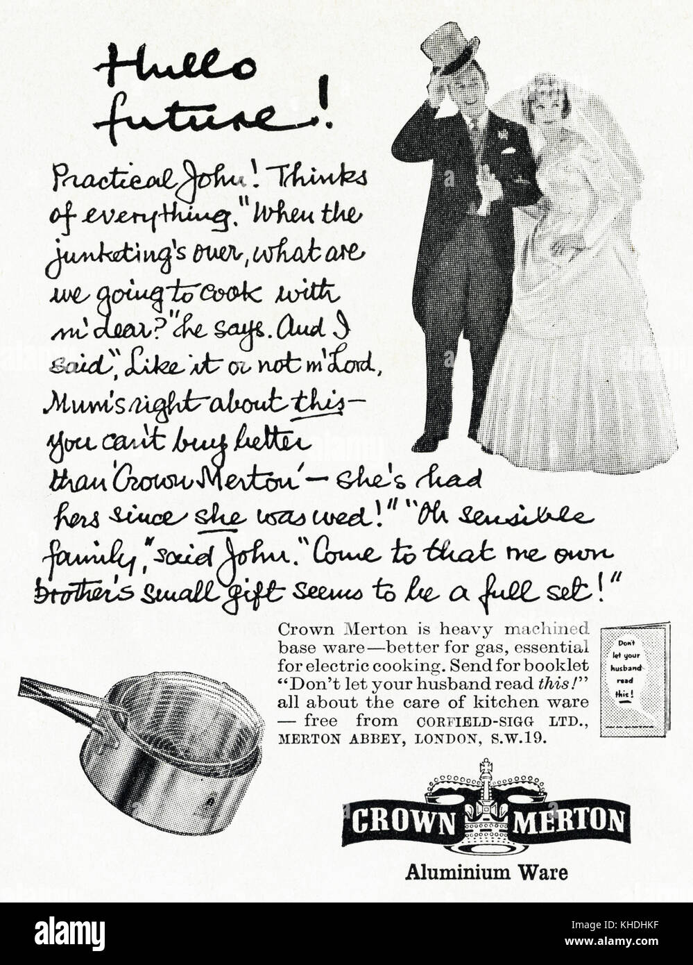 1950s Old Vintage Original Advert British Magazine Print Stock Photo