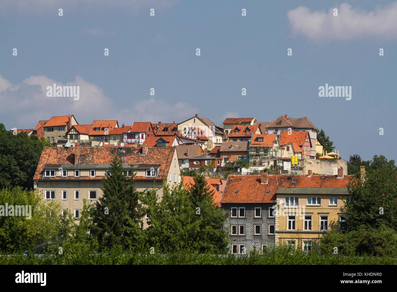 Blick auf den Münzenberg Quedlinburg - Stock Image
