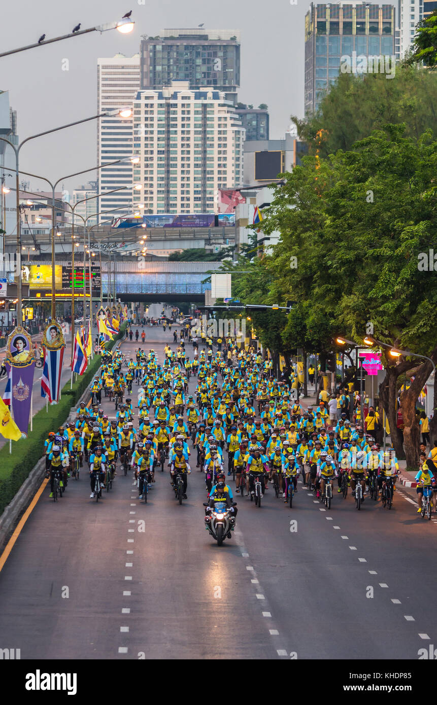 BANGKOK - DEC 11 : Event 'Bike for dad' from Thailand. Many people go to Bike for dad event to show respected - Stock Image