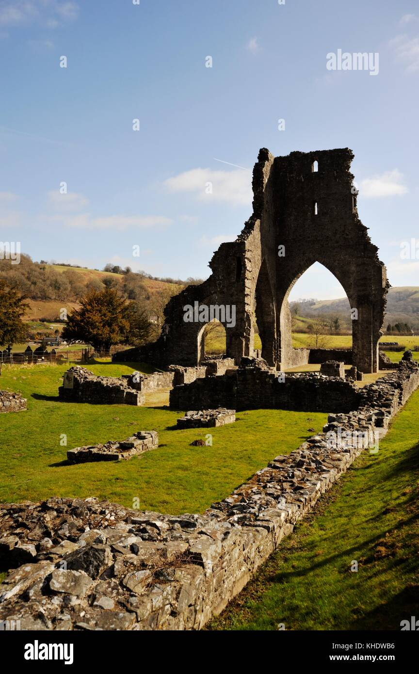 Talyllychau, Talley Abbey, former monastry of the Premonstratensians, the White Canons, founded in 1185 and sacked - Stock Image