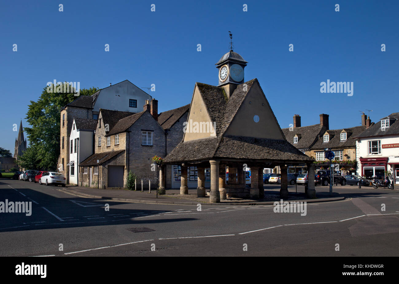 Butter cross,Market square,Witney,Oxfordshire,England - Stock Image