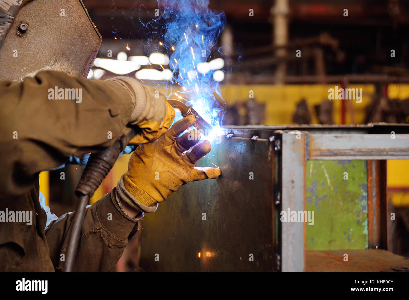 Welder for his work. - Stock Image