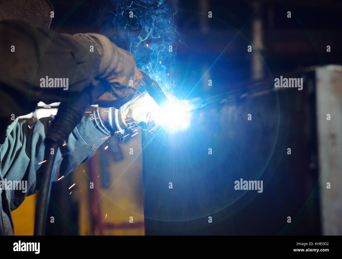 Welder for his work. - Stock Image