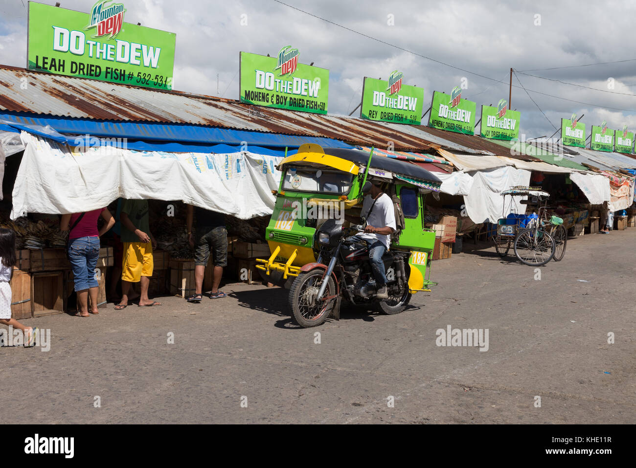 Asia, Philippines, Leyte, Ormoc City, Dried fish,  Ormoc market has a thriving dried fish section - Stock Image