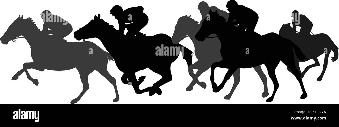 Champion Race Horse Black And White Stock Photos Images