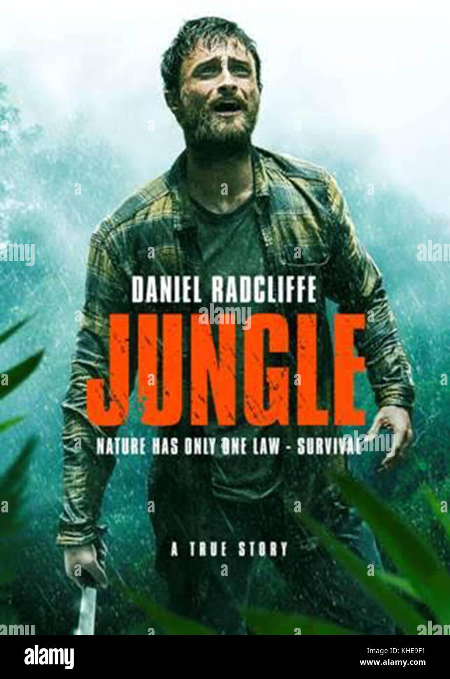JUNGLE (2017)  DANIEL RADCLIFFE  GREG MCLEAN (DIR)  SCREEN AUSTRALIA/MOVIESTORE COLLECTION LTD - Stock Image