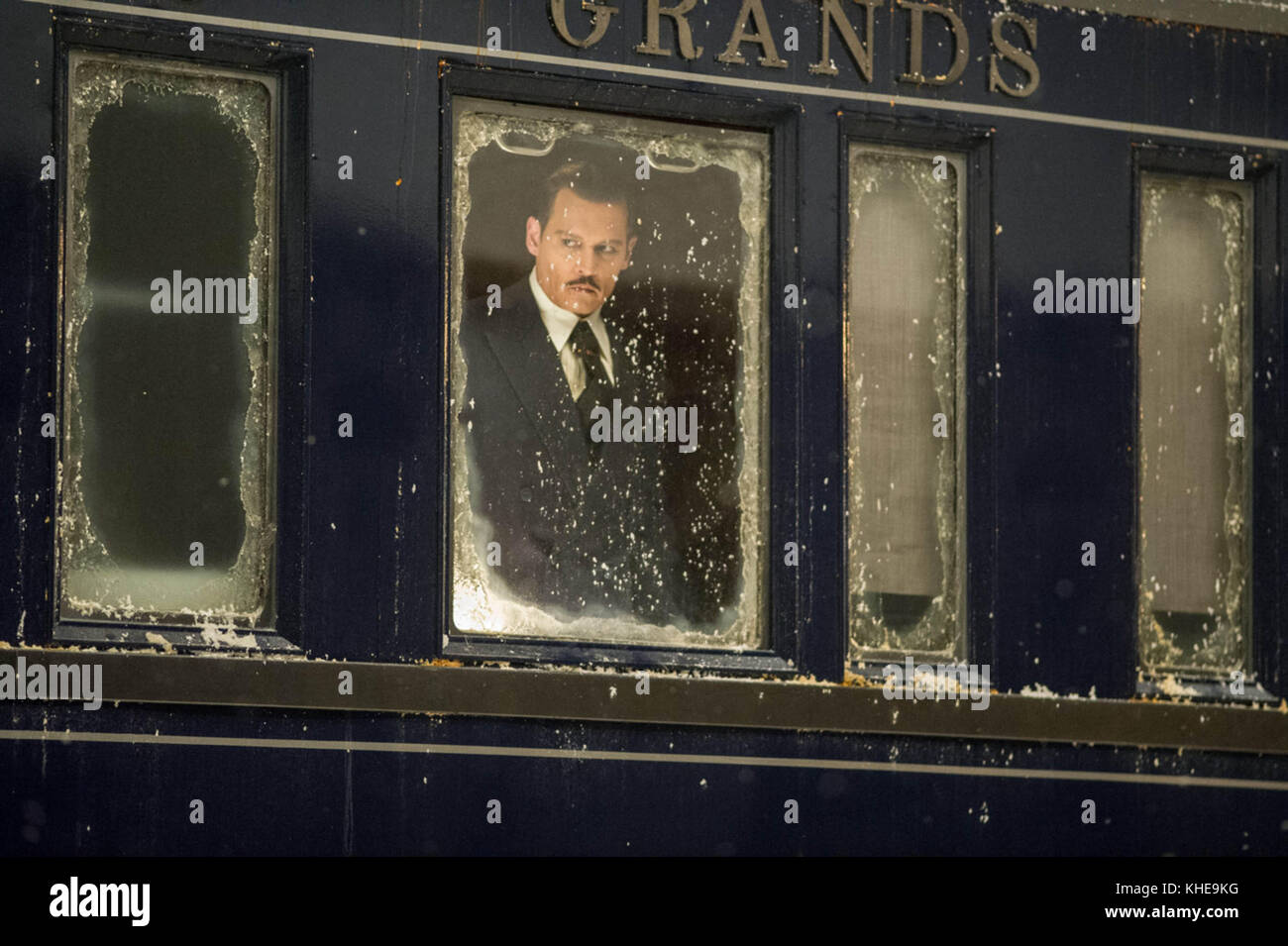 MURDER ON THE ORIENT EXPRESS (2017)  JOHNNY DEPP  KENNETH BRANAGH (DIR)  20TH CENTURY FOX/MOVIESTORE COLLECTION - Stock Image