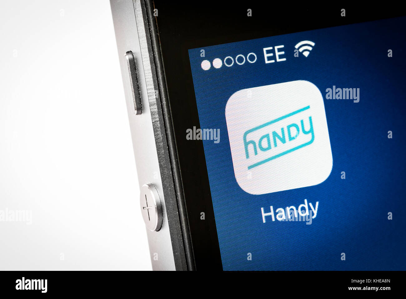 Handy mobile photo app on an iPhone - Stock Image
