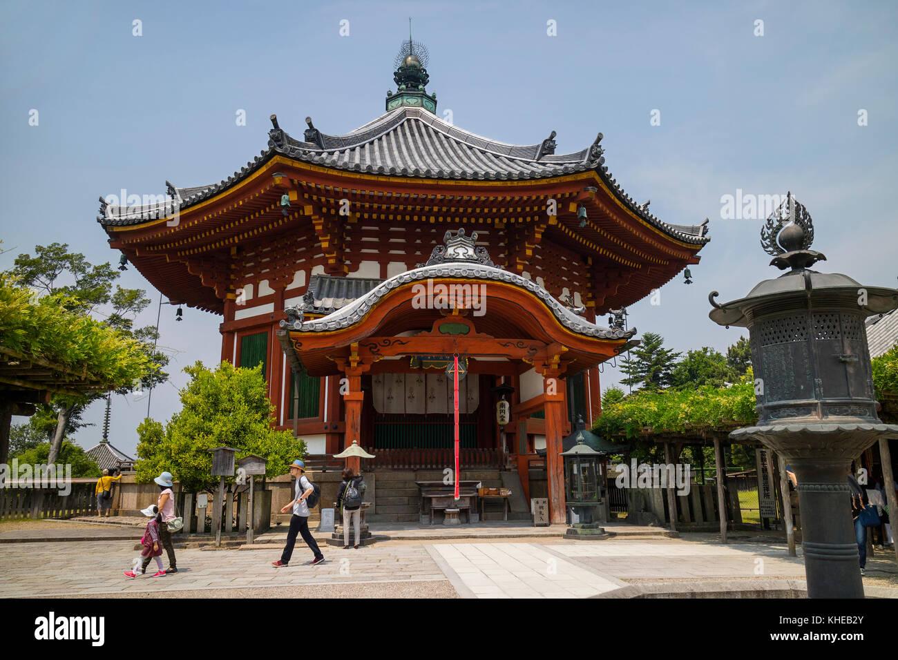 Nara, Japan -  May 31, 2017: Nanendo, Southern Octagonal Hall, at the Kofukuji Temple in Nara - Stock Image