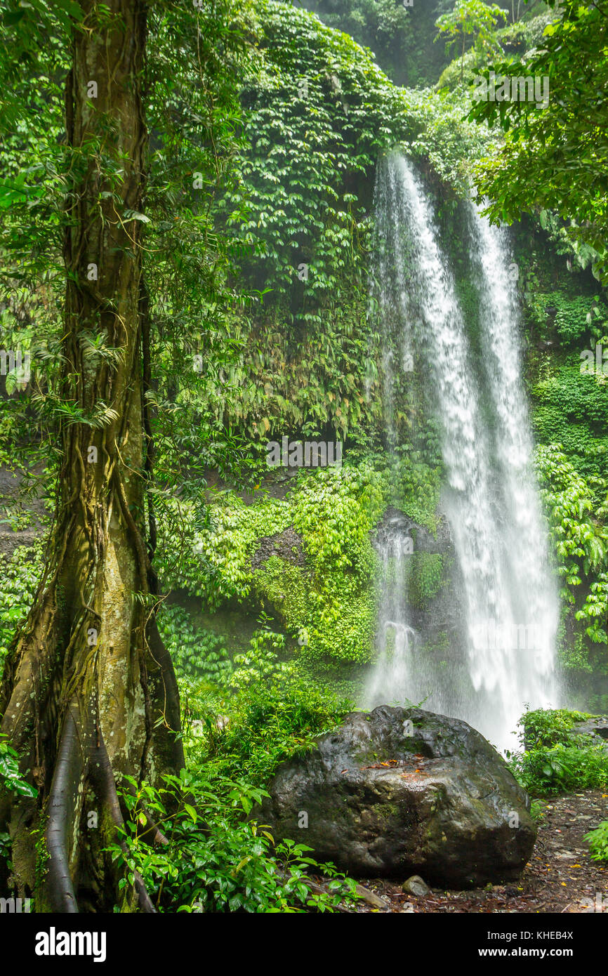 Sendang Gile Waterfall | Lombok | Indonesia - Stock Image