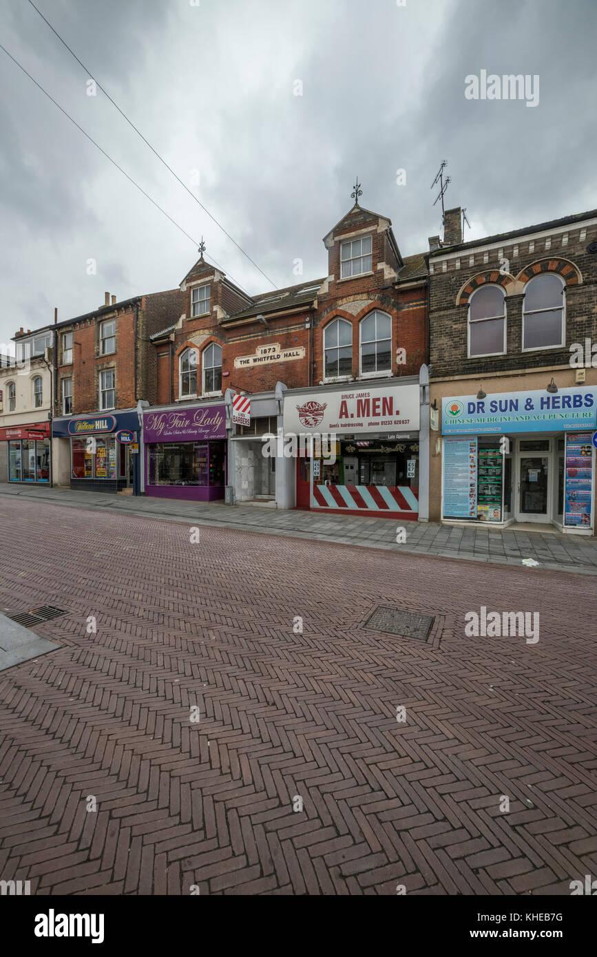 Ashford town centre, Kent, England, UK - Stock Image