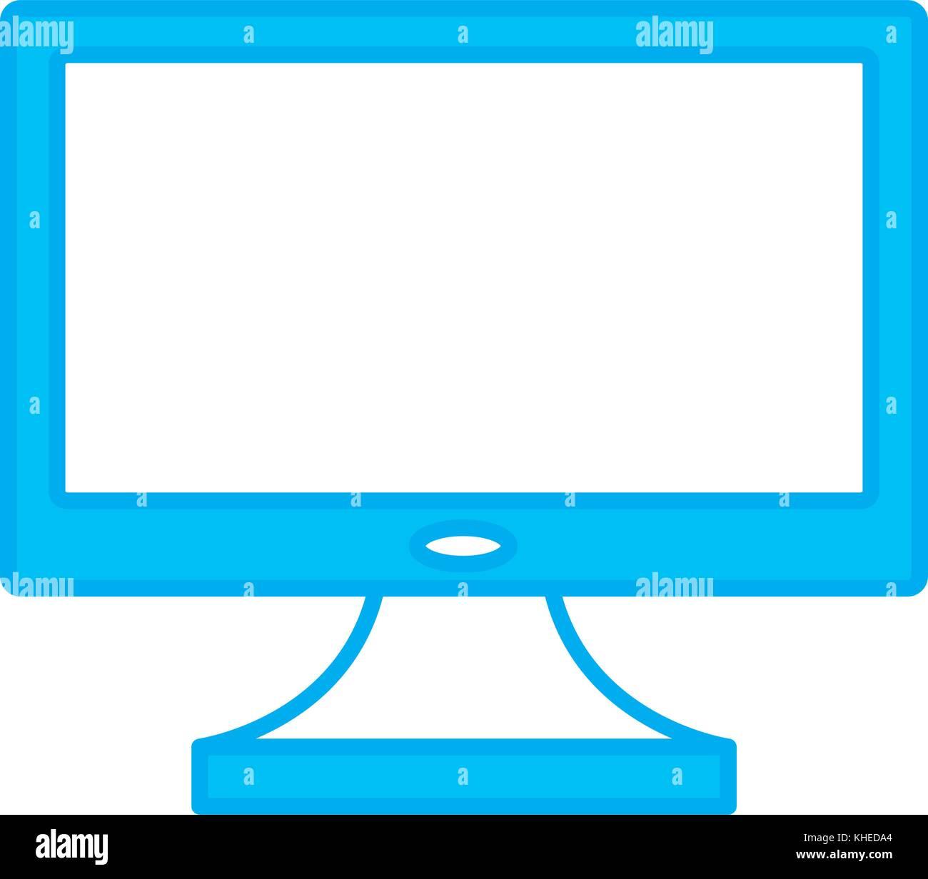 Computer monitor screen - Stock Image