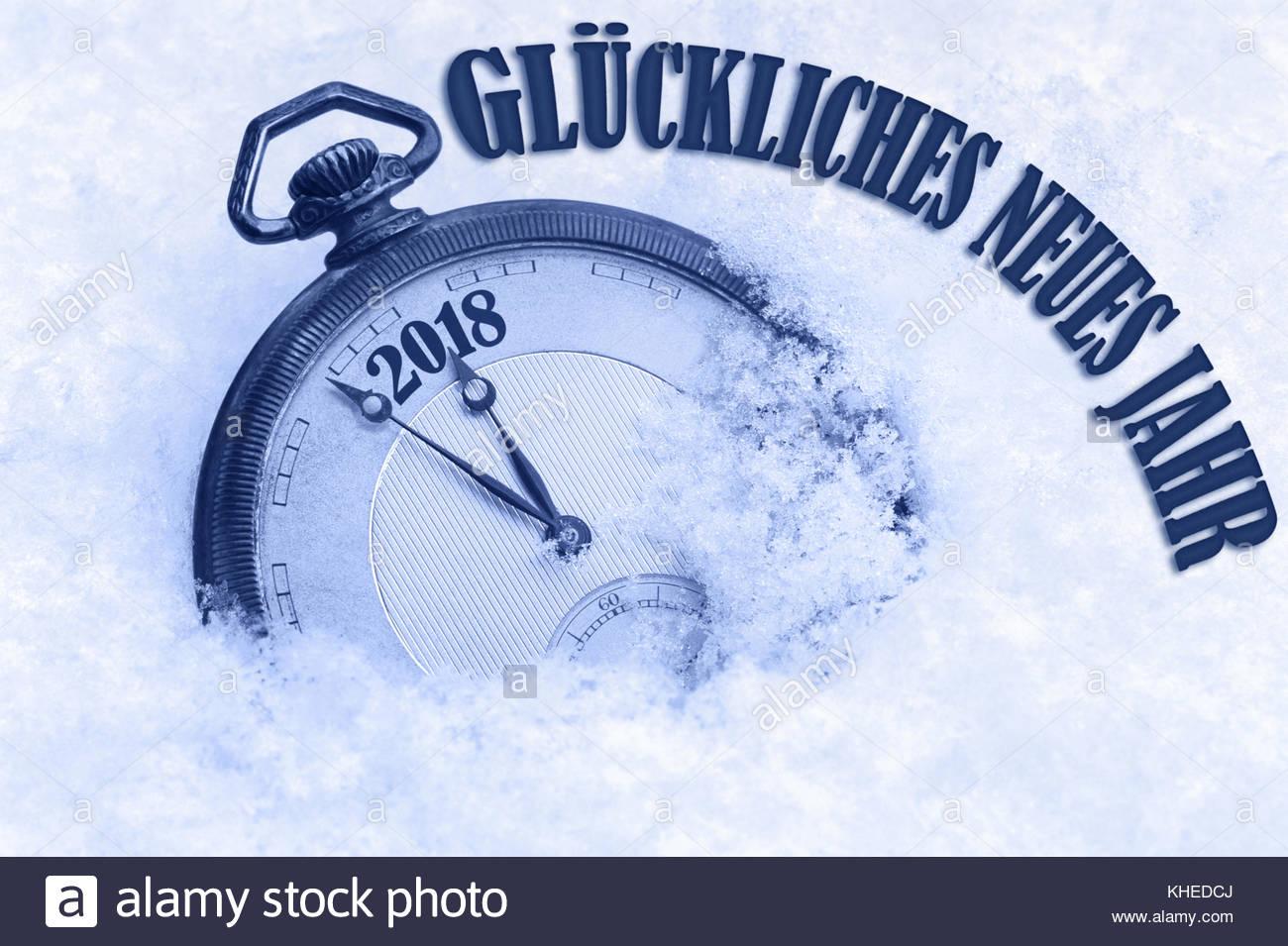 German Language 2018 New Year Stock Photos German Language 2018