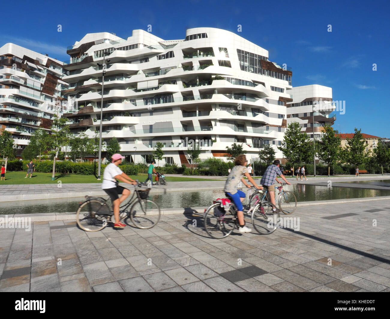 Europe , Italy , Lombardy , Milan ,Citylife district , residencies building desgned by Zaha Hadid Stock Photo