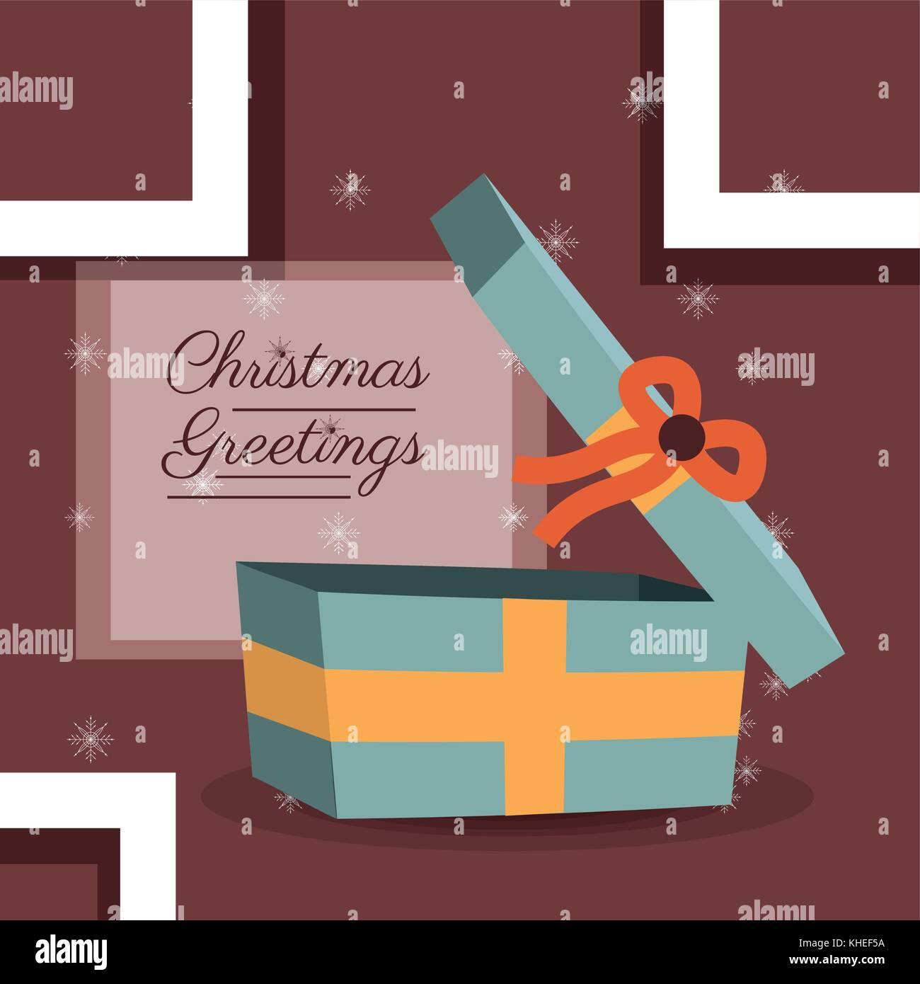 Christmas Greetings Vintage Christmas Card Stock Vector Images Alamy
