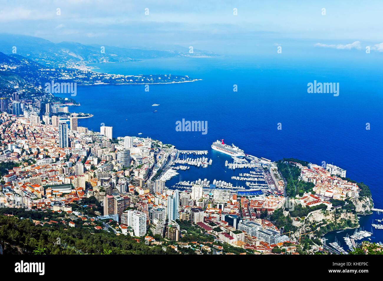 Principauté de Monaco (98). Monte-Carlo. Vue aérienne // France. Principality of Monaco (98). Monte-Carlo. - Stock Image