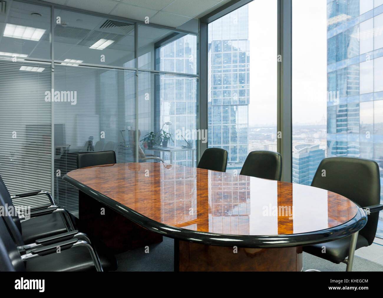 Modern meeting room in the office - Stock Image