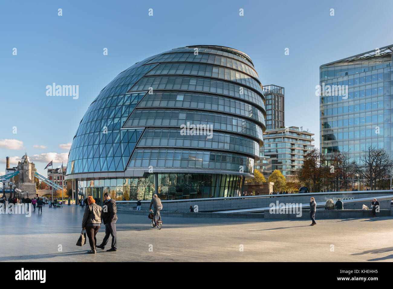 City Hall, headquarters of the Greater London Authority (GLA), the Mayor of London and London Assembly, Southwark, - Stock Image